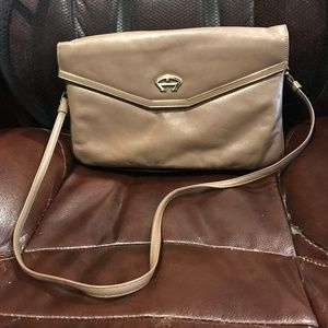 Vintage Aigner Leather Covertible Clutch Purse